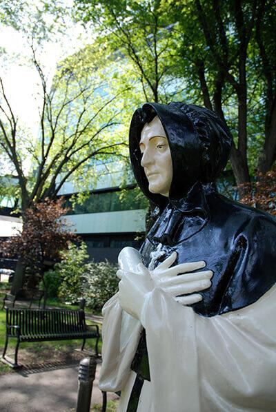 Grey Nun statue
