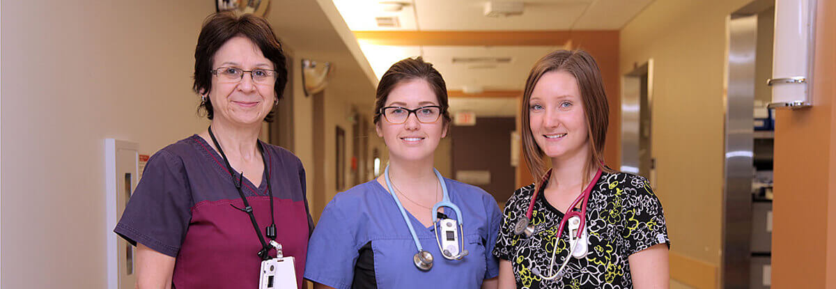 three female nurses